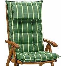 2Lujo cojines para respaldo alto 9cm de grosor con almohada Miami 20426–200(sin silla)