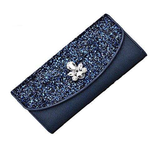 Heart&M Langes Abendkleid Ledertasche im High-End-Qualität Lady Hand Tasche Handtasche Blue