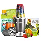 NutriBullet Graphite 600 Series 8-Piece Set Juicer, Blender with FREE Natural Healing Foods Book and NutriBlast Seed and Fruit (Graphite) (As Seen on High Street TV)