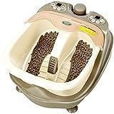 Spa-Massage Fußwanne Home automatische Massage Fußbad Heizung Eimer Elektrische Füße Becken Tiefe Fässer Fußbad (Elfenbein weiß) (268 * 468 * 368mm) Rollermassager
