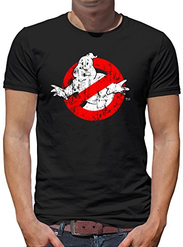 TLM Ghostbusters Distressed T-Shirt Herren XXXL Schwarz (Distressed Bier)