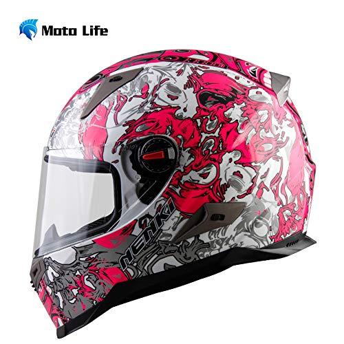 Casco modulare per Motociclista Crash High Safety - Casco Moto Integrale NENKI con Visiera Parasole per Uomo Adulto,XL