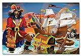 Sablon 4402 - Melissa & Doug - Piraten-Puzzle (100-teilig), 100 Teile