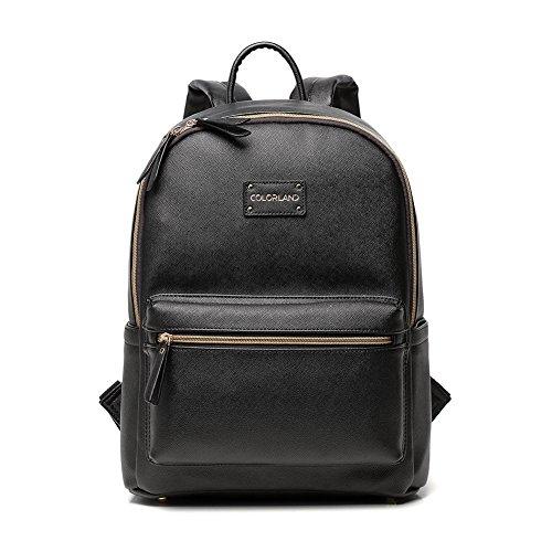 Preisvergleich Produktbild Colorland Fashion Reisetasche Organizer Rucksack Wickeltasche Mummy Bag PU Leder