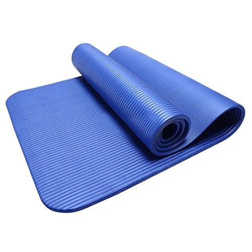 HCFKJ 10 MM Dicke Durable Yoga Matte rutschfeste Übung Fitness Pad Matte Gewicht Verlieren (BLAU) (Face North Slip The)