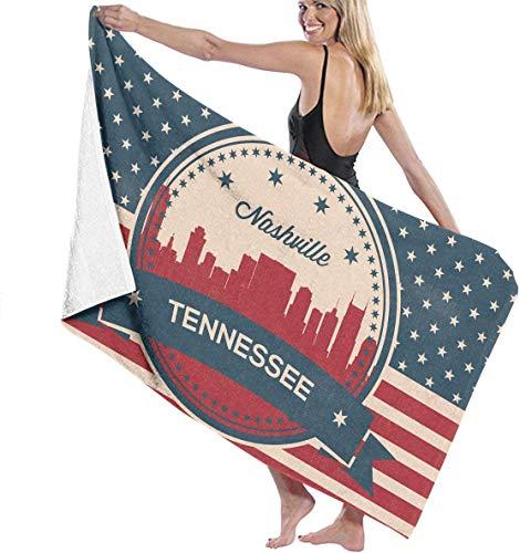 """NA Retro Tennessee Flag Mikrofaser Strandtücher Quick Dry Super saugfähigen Baden Spa Pool Handtücher für Schwimmen & Outdoor 31\""""51\"""""""