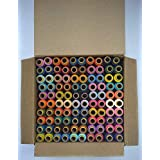 Jay Shubham Threads Polyester Sewing Thread 100 Tubes 50 Shades Each 2 in Number (Multicolour) -Set of 2