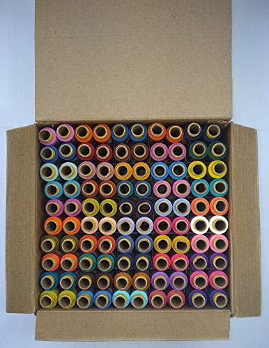 Jay Shubham Threads Polyester Sewing Thread 100 Tubes 50 Shades...