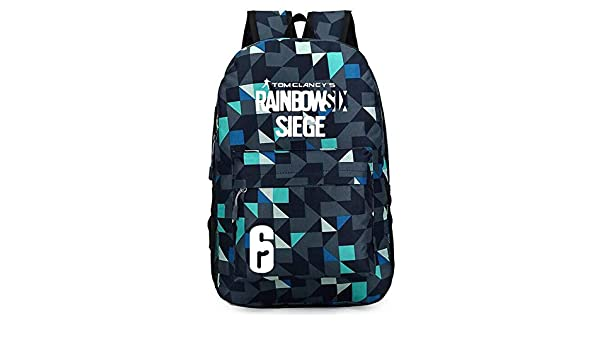 Tom Clancy/'s Rainbow Six Siege Logo Luminous Shoulder School Bag Oxford Backpack