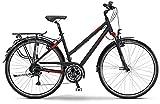Staiger Louisiana 2015 Trekking Fahrrad Damen schwarz/rot matt (Rahmenhöhe 44)