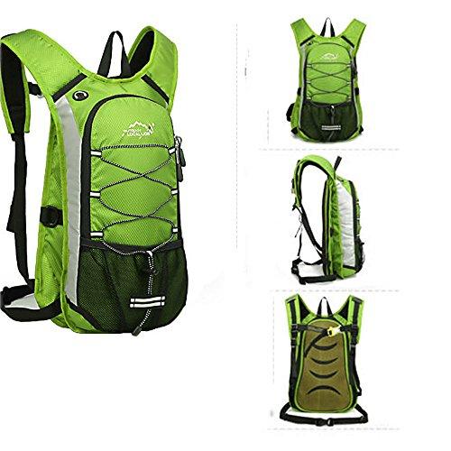 Minetom 12L Unisex Erwachsene Rucksack Camping Wandern Reisen Trekkingrucksäcke Wanderrucksäcke Taktischer Polyester Rainproof Grün