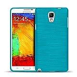 CoolGadget Samsung Galaxy Note 3 Neo Hülle, Ultra Thin Brushed Cover Schlank Weich Flexibel Anti-Kratzer Schutzhülle Abdeckung Case, Silikon Cover für Galaxy Note 3 Neo - Blau