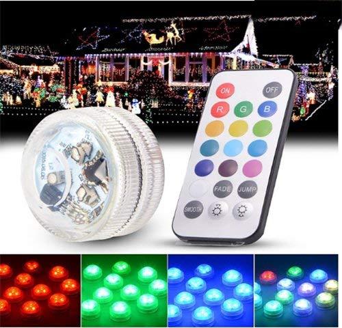 Genven Tauch-LED-Leuchten wasserdicht Aquarium Lichter Teich Licht Unterwasser-Lampe Kerzenlicht mit 20-Tasten-Fernbedienung -
