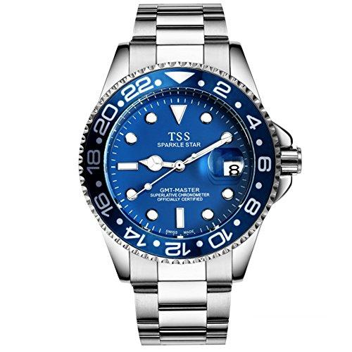 Orologio meccanico automatico uomo/Luminoso orologio business-A