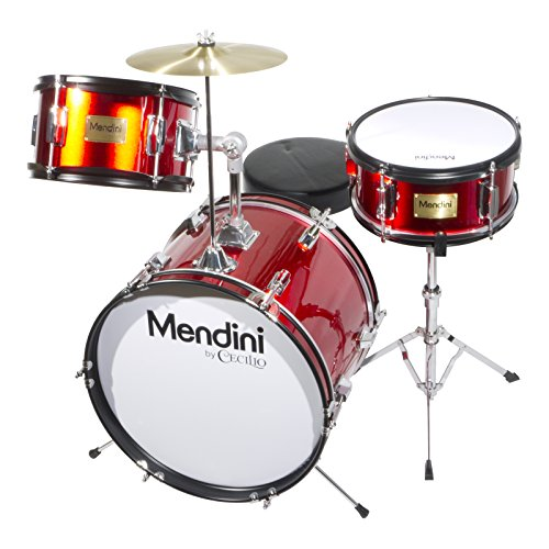 mendini-mjds-3-br-junior-drum-set-red