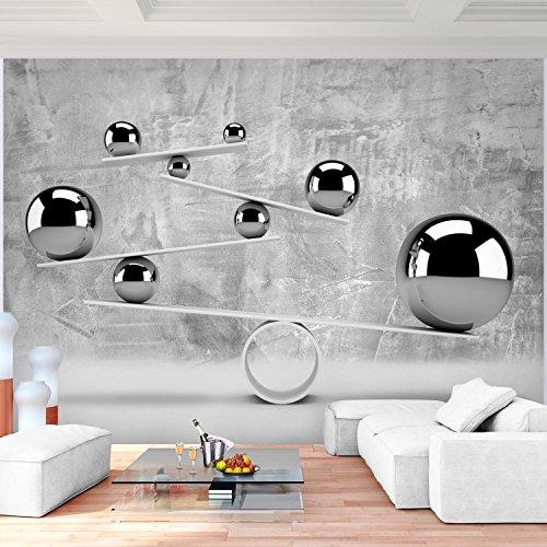 Fototapete 3D   Graue Kugel 352 X 250 Cm Vlies Wand Tapete Wohnzimmer  Schlafzimmer Büro Flur Dekoration Wandbilder XXL Moderne Wanddeko   100%  MADE IN ...