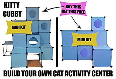 "Sensational New Maxi Size""kitty Cubby""clip Together Frame Allows You A Multiple Variation Of Shapes,wipe Clean,attractive Colours,hours Of Fun For Your Furry Loved One,this Item Has Been Thoroughly Tested By Cat Breeders Before Release To Make Sure You Ge"