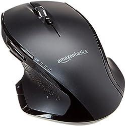 AmazonBasics Souris ergonomique sans fil de taille normale avec défilement rapide