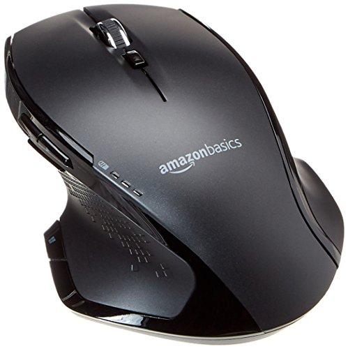 Amazonbasics - mouse wireless ergonomico full-size con scrolling rapido