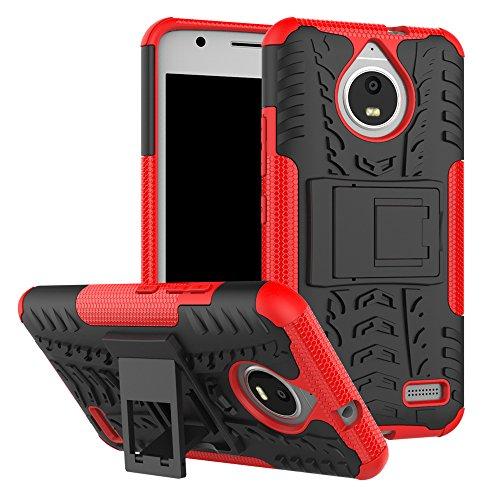 QiongniAN Cover per Motorola Moto E4,Staffa Antiurto Custodia per Motorola Moto E4 XT1760 XT1762 XT1763 XT1764 XT1767 XT1767PP XT1768 XT1769 / Moto E Gen 4 Custodia Case Cover Red