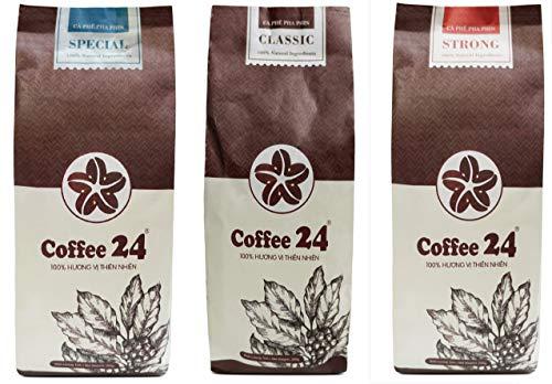 Sonderangebot 3 x 250g Coffee24 – Vietnamesischer Kaffee aus organischem Anbau – Drei...