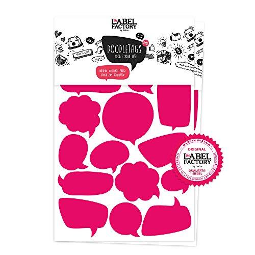 the Label Factory by favlov  · 34 Sprechblasen, pink | Aufkleber-Doodletags, Kinderzimmer & Spielzeugkisten Sticker zum Beschriften