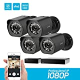 Zmodo 8-channel 1080p HDMI NVR sPoE surveillance system, 4x1080p bullet surveillance cameras for indoor / outdoor use, IP65 waterproof, night vision, motion detector