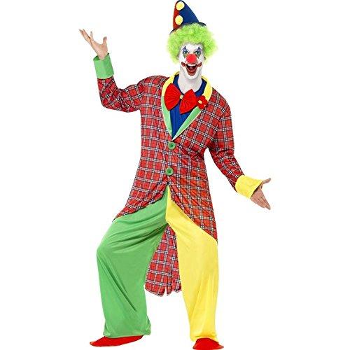 Smiffys Herren Kostüm Zirkus Clown Clownkostüm Karneval Fasching Gr.L