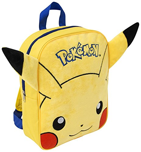 Price comparison product image POKEMON EMBROIDERED PLUSH BACKPACK PIKACHU SCHOOL RUCKSACK KIDS ADJUSTABLE NEW