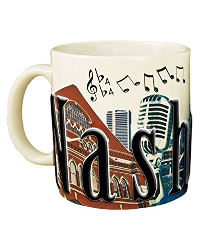 Americaware smnvl01Nashville 18oz Full Color Relief Tasse (Nashville-kaffee-tasse)
