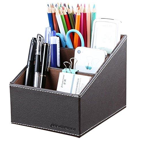 fome-3-slot-pu-leather-desk-remote-controller-holder-organizer-home-sundries-storage-box-tv-guide-ma