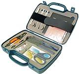 Transmedia Glasfaser-Werkzeug-Set, Hartschalenkoffer SW18L