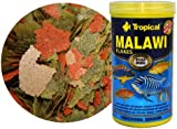 Tropical Malawi Mbuna Cichlids special flake vegetable high-protein fish food for daily feeding - 300ml/55g