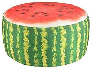 Esschert Design BK011 Outdoor Pouffe Garden Seat - Melon Design