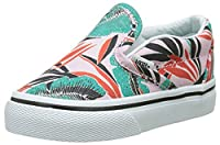Vans Baby Girls TD Classic Slip-on Walking Shoes, Pink (Tropical Leaves Pink Lady), 9.5 Child UK 26 1/2 EU