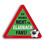 Kfz-AufkleberIch Bremse Nicht für Gladbach-Fans | Für mehr Spaß im Verkehr für alle FC Köln, Leverkusen- & Fußball-Fans | Vereinsaufkleber - Lustiger Auto-Aufkleber - Witziger KFZ-Sticker