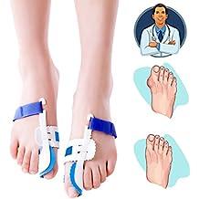Corrector de juanetes, 1par de dedos férula nocturna para juanetes almohadillas Protector de pantalla para grandes pies conjunta Hallux Valgus alivio del dolor
