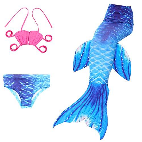 Das Beste Mädchen Meerjungfrau Muschel Form Bikini Kostüm Schwimmanzug Badeanzüge Tankini Bademode Badeanzüge Meerjungfrauenschwanz Schwimmen Freien (2 Teiliges Meerjungfrau Kostüm)
