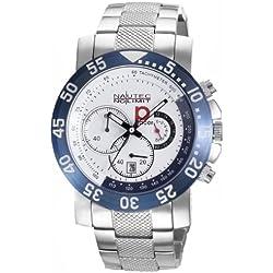 Nautec No Limit Men's Watch RP QZ Stainless Steel Quartz Chronograph P-Racer XL/STSTWHBL