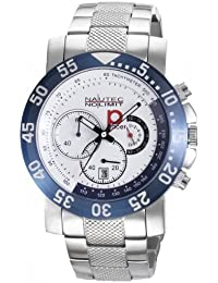 Nautec No Limit Herren-Armbanduhr XL P-Racer Chronograph Quarz Edelstahl RP QZ/STSTWHBL