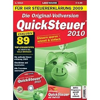 Quicksteuer 2010 - Aktionsware