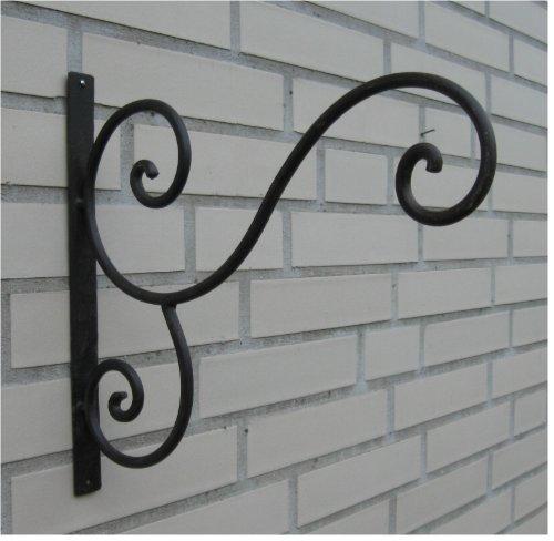 Haken Wandhaken für Blumenampel *Metall / Eisen antikbraun* ca. 30 x 30 cm, Landhaus