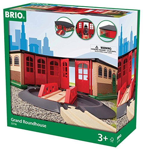 Garage, Große Türen (BRIO World 33736 - Großer Ringlokschuppen)