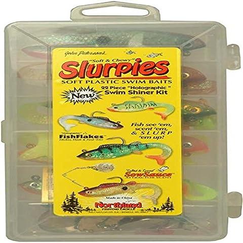 Northland Pesca Slurpies trastos Swim Kit Shiner 22 piezas
