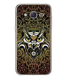 PrintVisa Designer Back Case Cover for Galaxy J3 (2015) (Art Decoration Illustration Vector Eyes Modern Style)