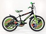 IBK Bici Bicicletta Bambino Bimbo Pampa Misura 20' Colore Nero con PARAFANGHI