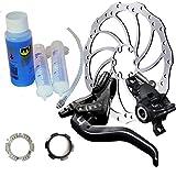 Magura MT4 Bremsenset, Bremse - Bremsscheibe - Centerlock-Adapter - Entlüftungs-Kit MT4, HC 160mm, Entlüftungs-Kit, Centerlock-Adapter