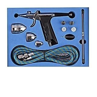 GANZTON Airbrush SP166AK Spray Gun Dual-Action Trigger Air-paint Control Sprayer for Art Paint,Makeup,Cake Decoration,Car Paint, Brush Makeup,Crafts and so on