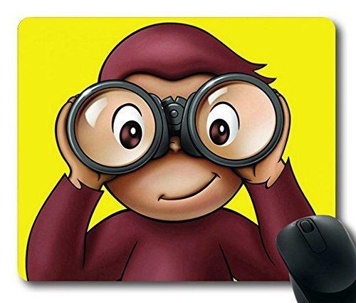 George Affe Cartoon 3mm dick/22,9x 17,8cm rutschfestem Neopren Gummi Mousepads ()