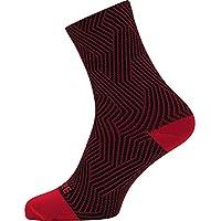 Gore Wear C3 Optiline Calcetines Medianos, Unisex Adulto, Rojo/Negro, 44/46